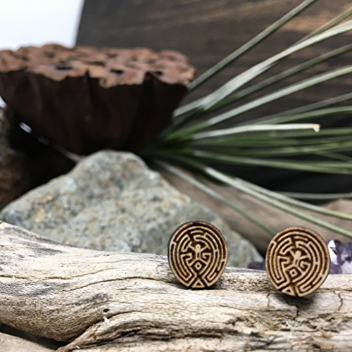 Westworld Inspired Maze Stud Earrings
