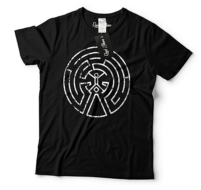 Westworld Maze Map Mens Shirt